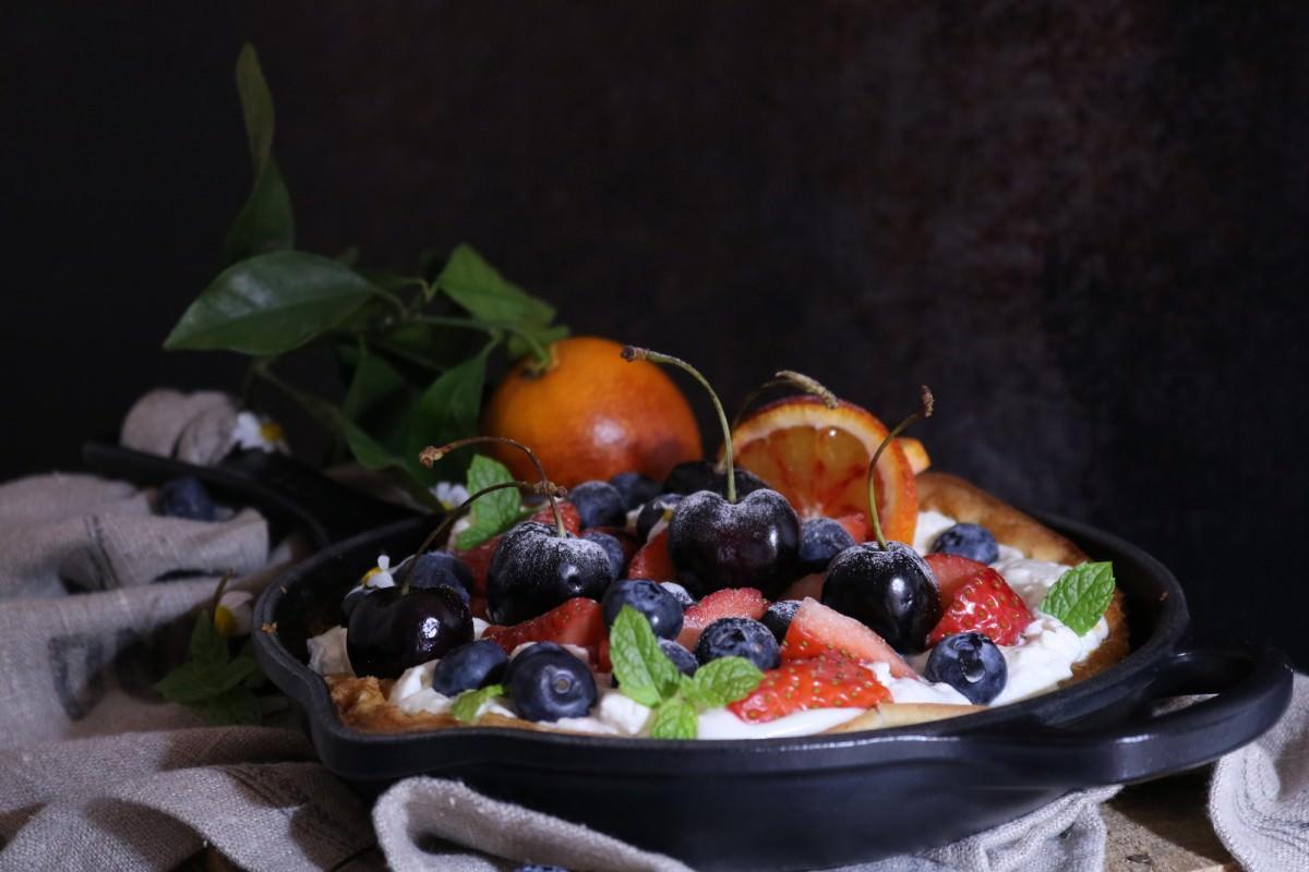 Panqueca de laranja sanguínea e frutos - 0