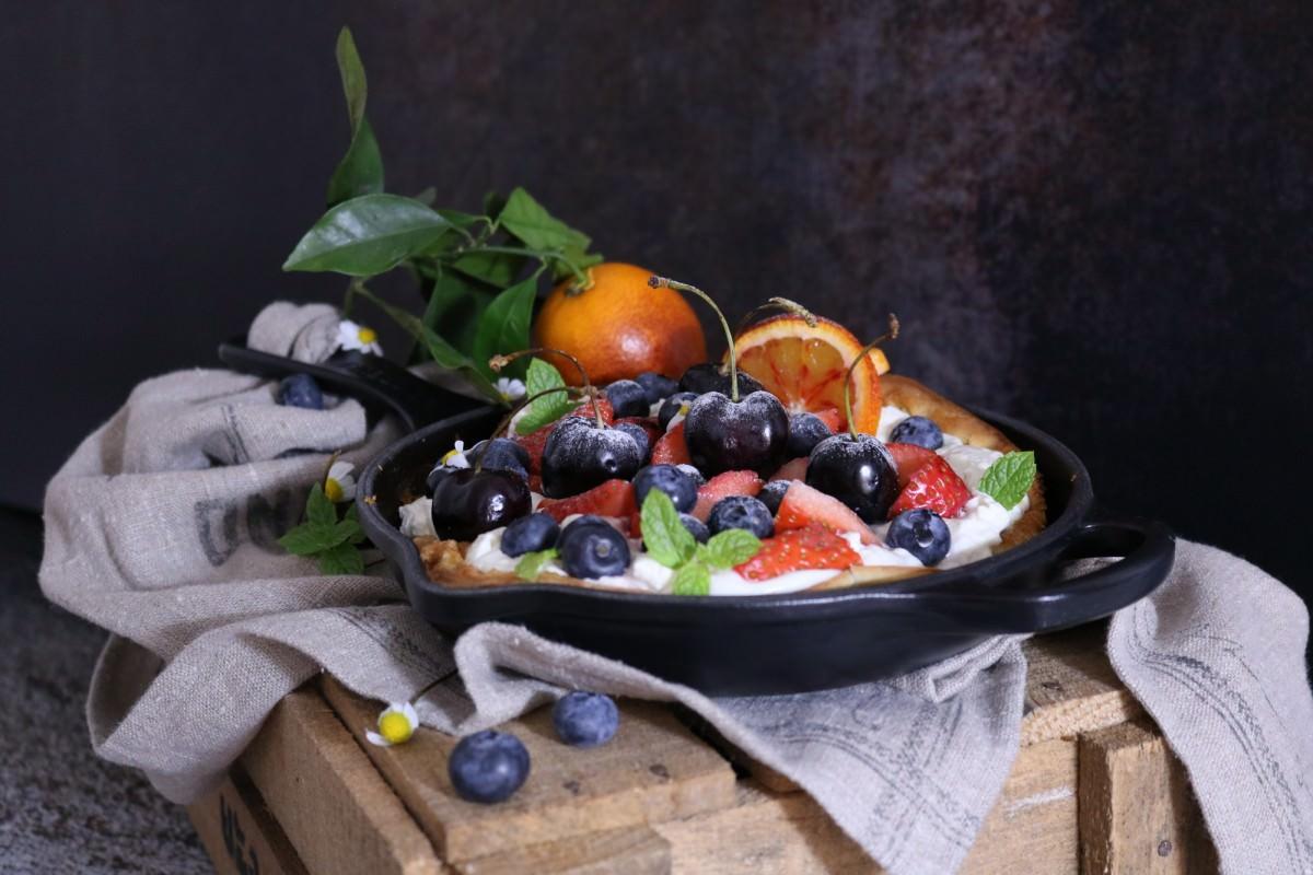 Panqueca de laranja sanguínea e frutos - 1
