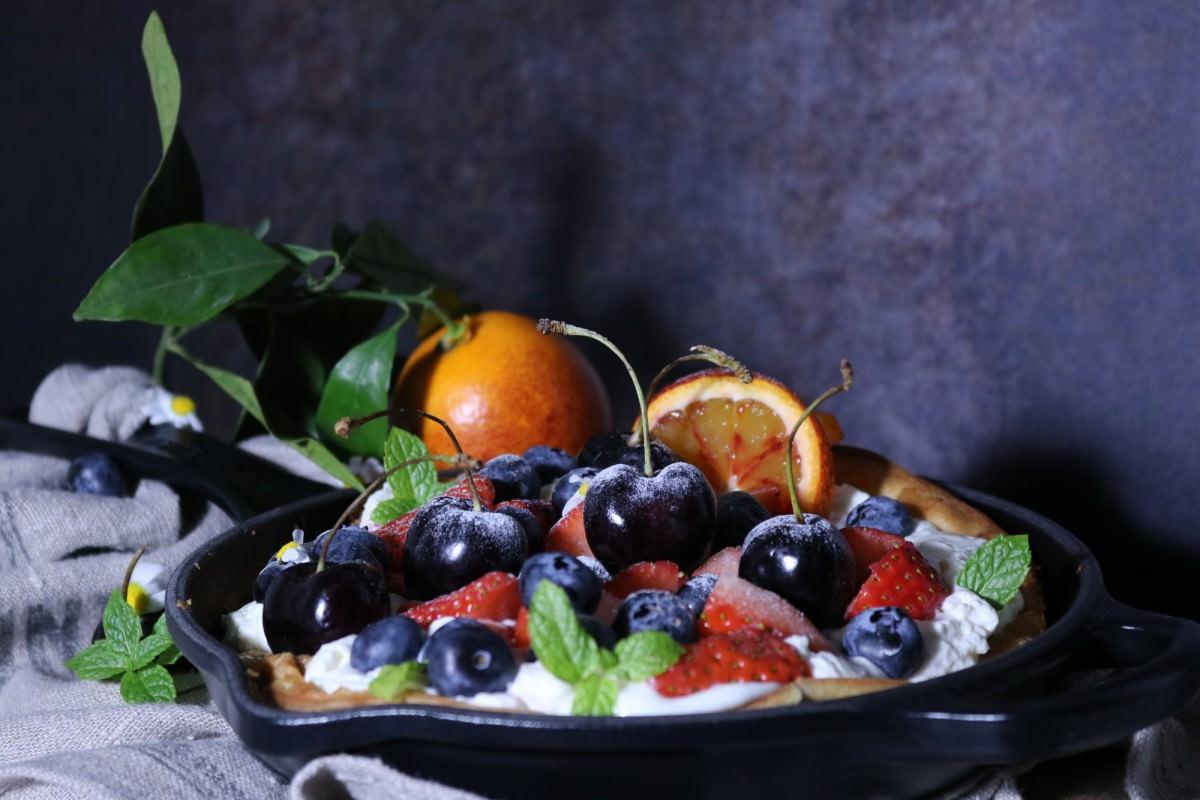 Panqueca de laranja sanguínea e frutos - 2