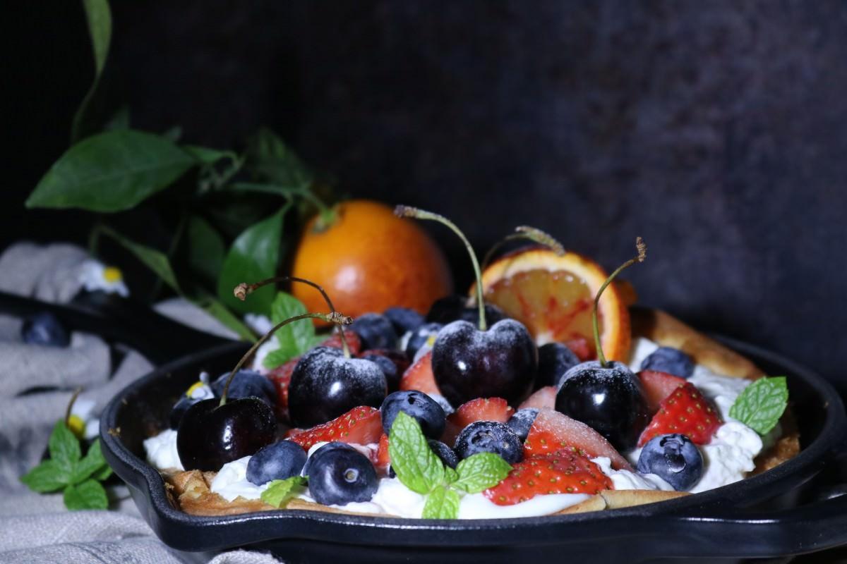 Panqueca de laranja sanguínea e frutos - 3