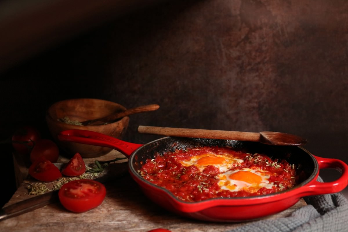 Tomatada com Ovos Escalfados - 0