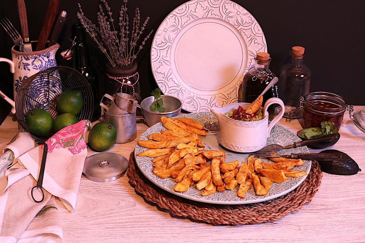 Batata doce frita & creme de abacate - 2