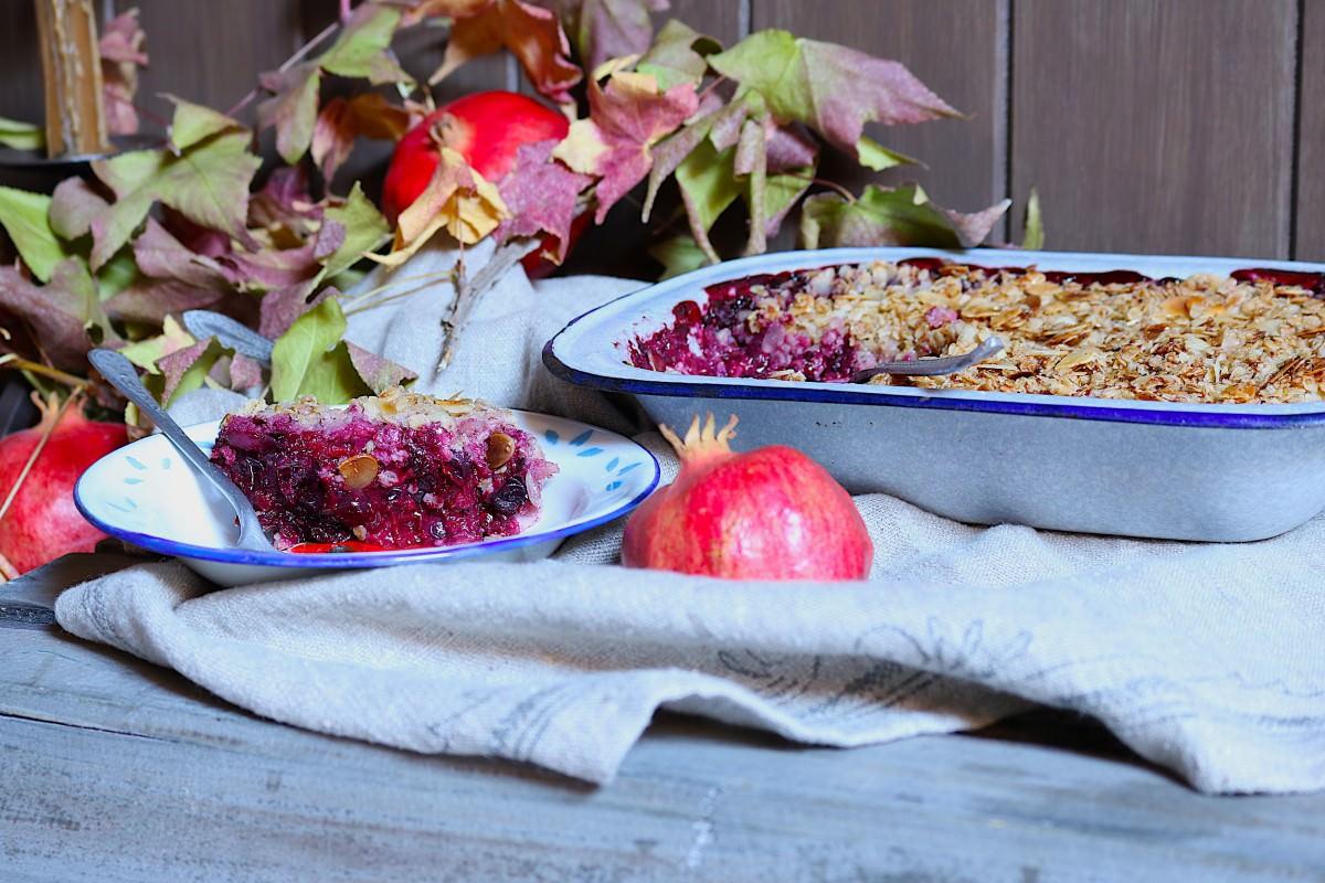 Crumble de frutos vermelhos com aveia - 3