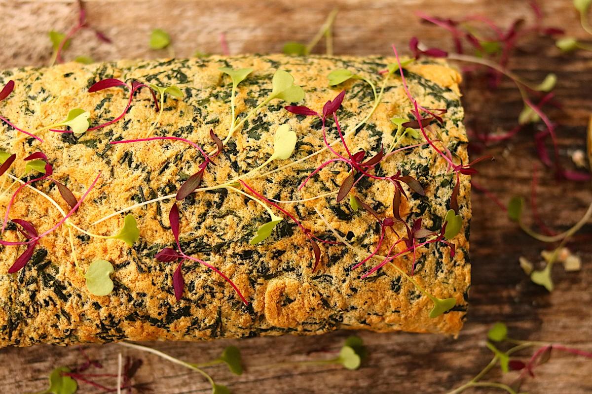 Torta de Espinafres Recheada com Salmão - 3
