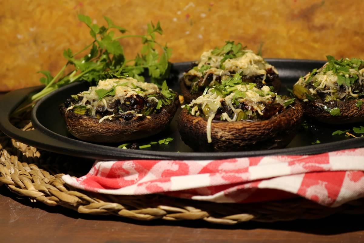 Cogumelos Portobello Recheados - 2