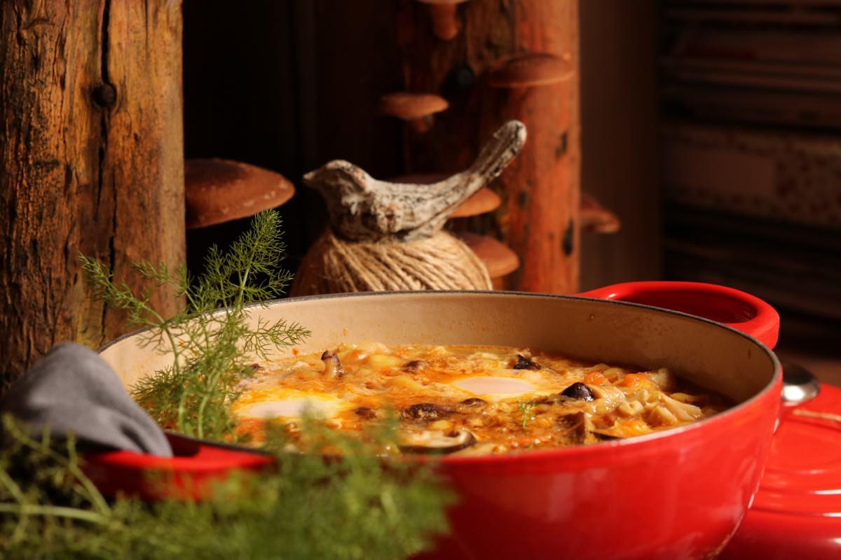 Chícharos com cogumelos shitake - 0