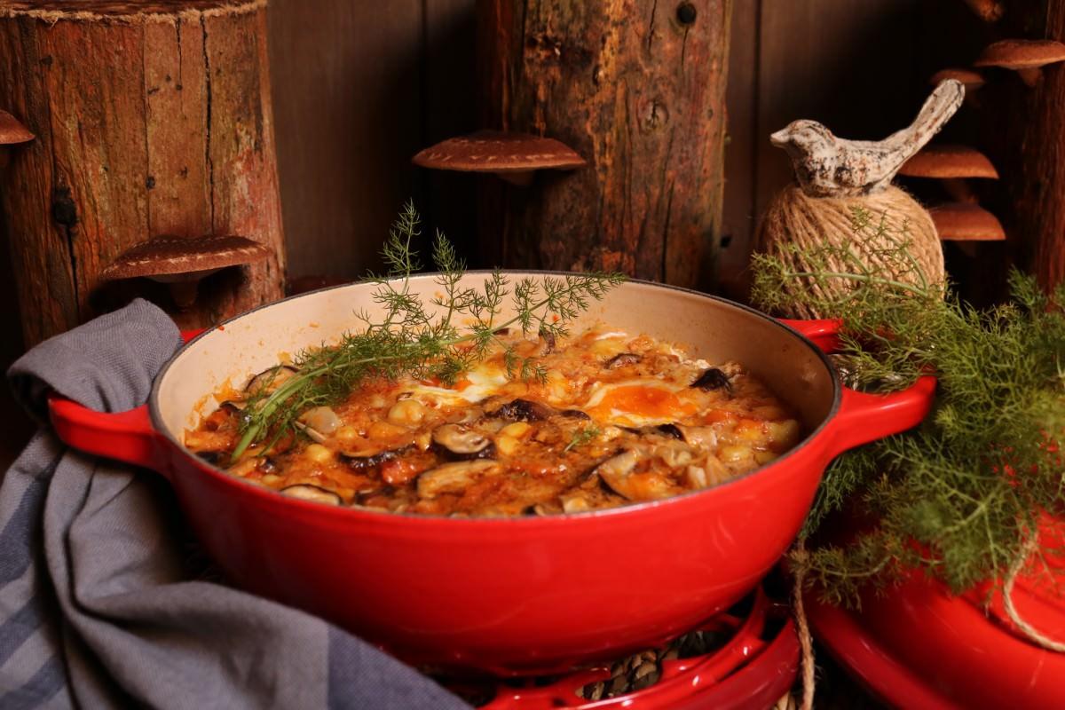 Chícharos com cogumelos shitake - 2