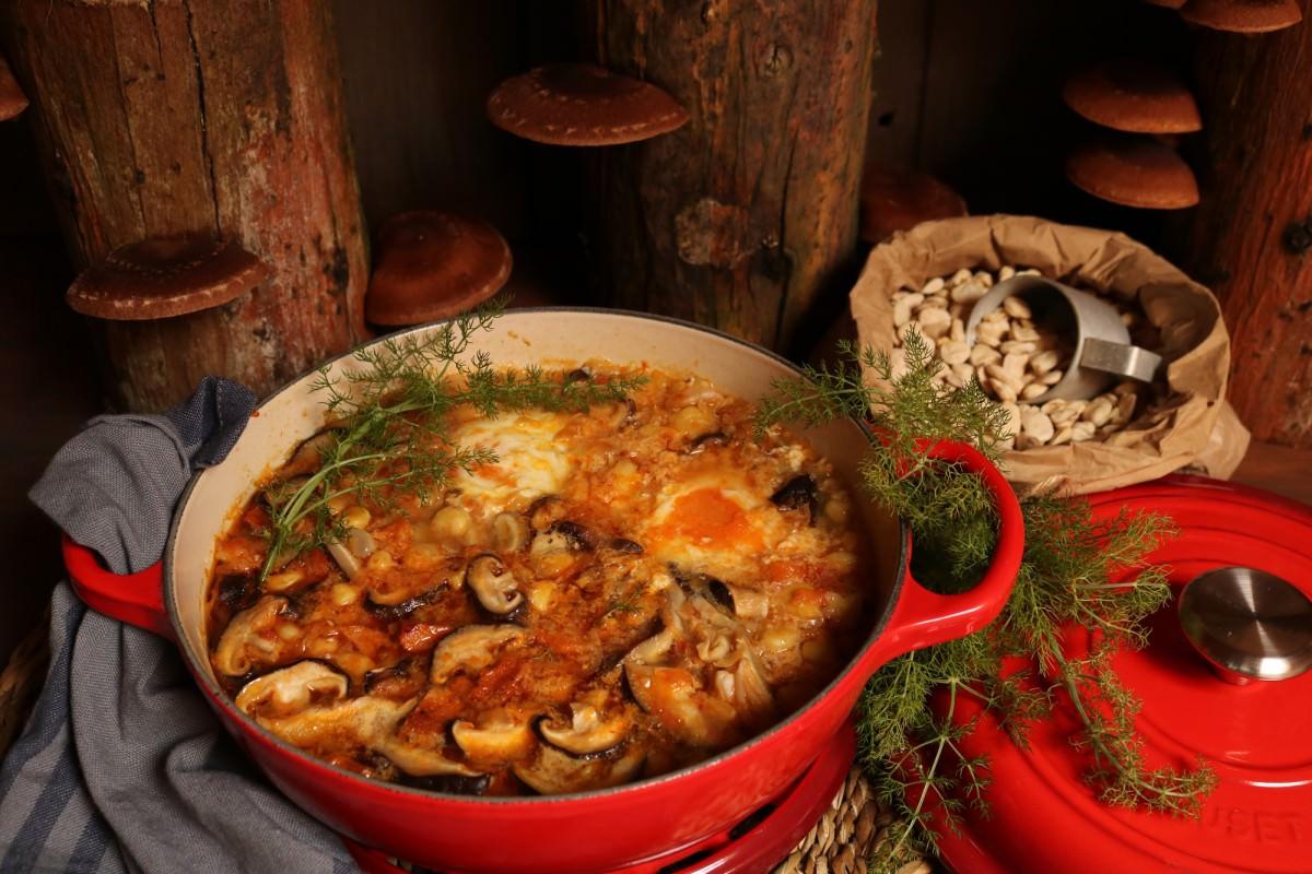 Chícharos com cogumelos shitake - 3