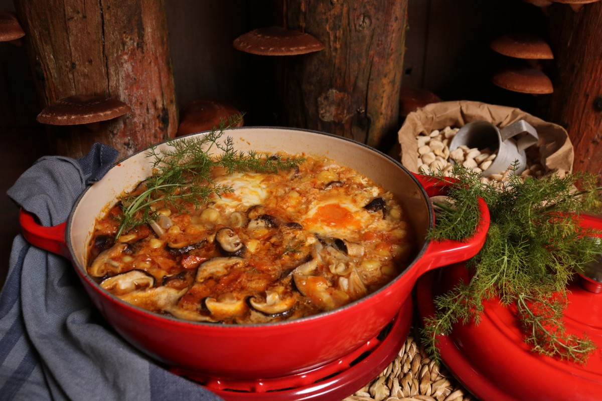 Chícharos com cogumelos shitake - 4
