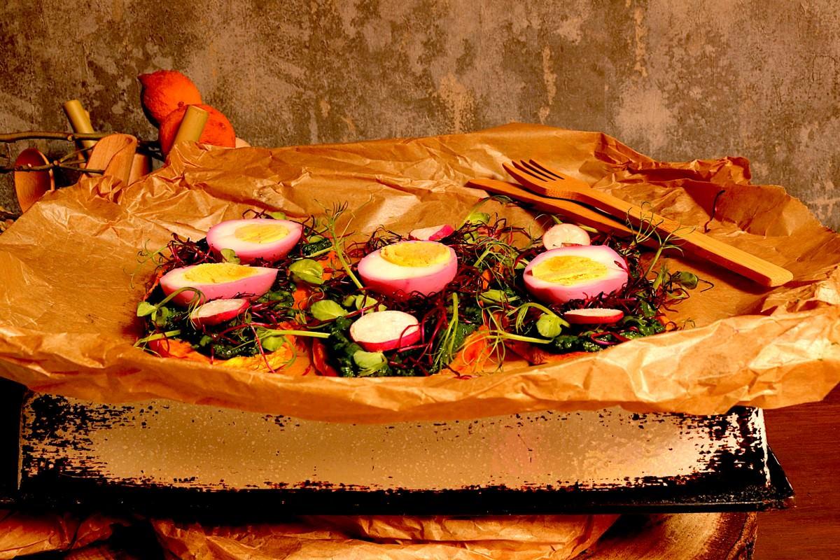 Batata doce com abacate, legumes e ovo - 4