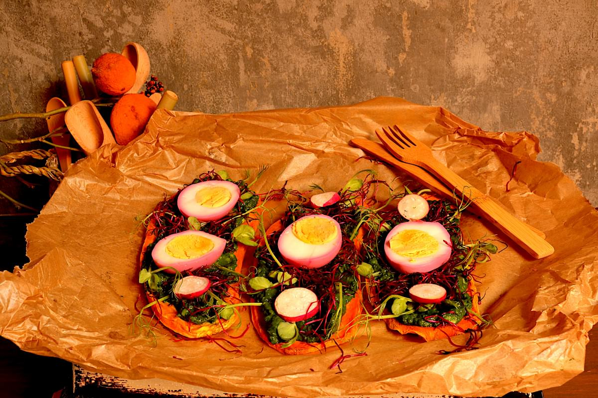 Batata doce com abacate, legumes e ovo - 3
