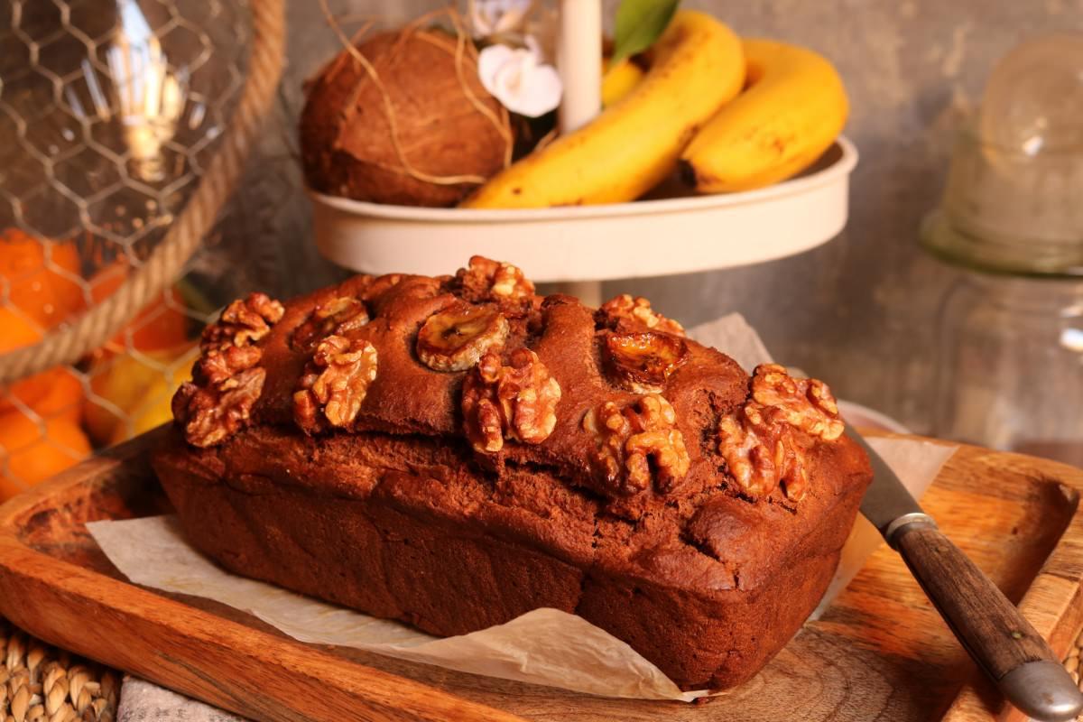 Pão de banana e noz vegan - 1