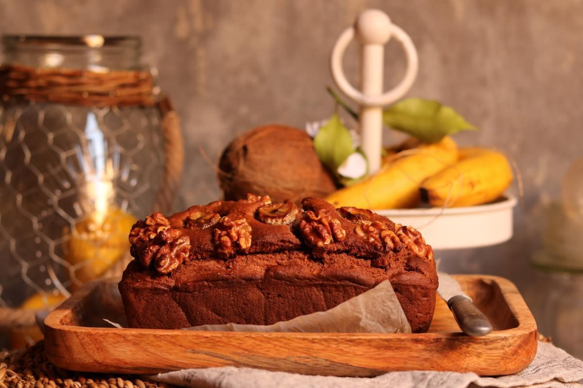 Pão de banana e noz vegan - 4