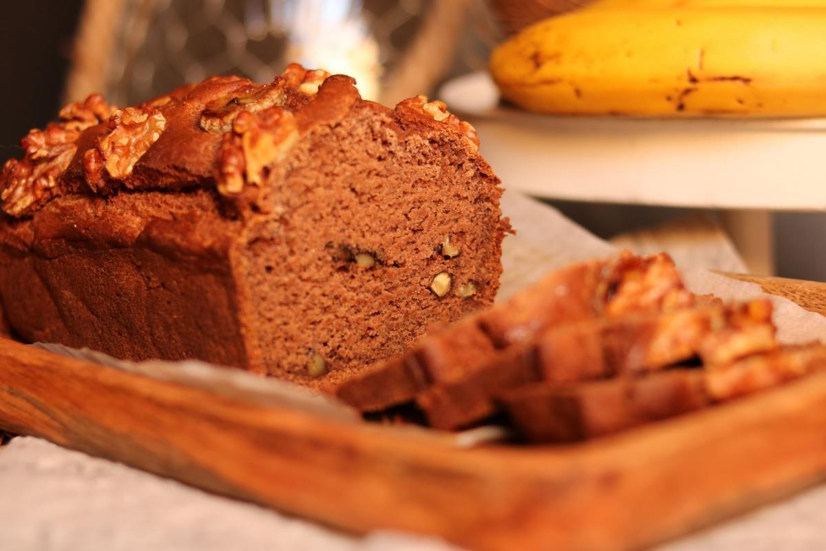 Pão de banana e noz vegan - 5
