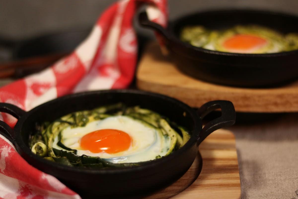 Courgette com ovos assados - 0