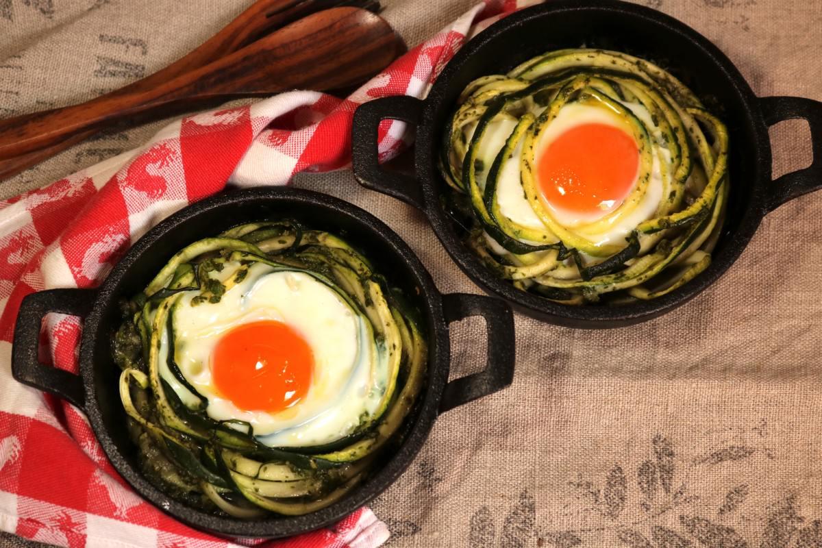Courgette com ovos assados - 1