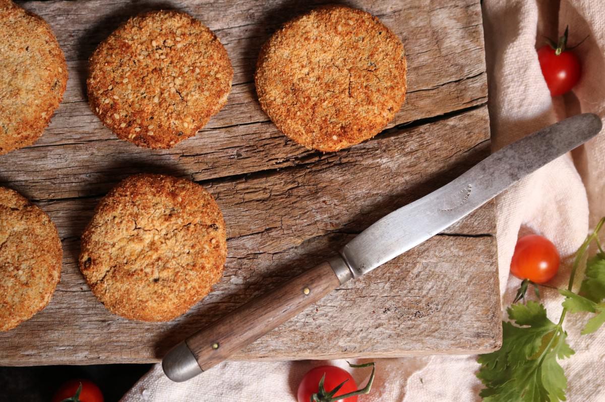 Hambúrguer de feijão azuki e lentilhas vermelhas - 1