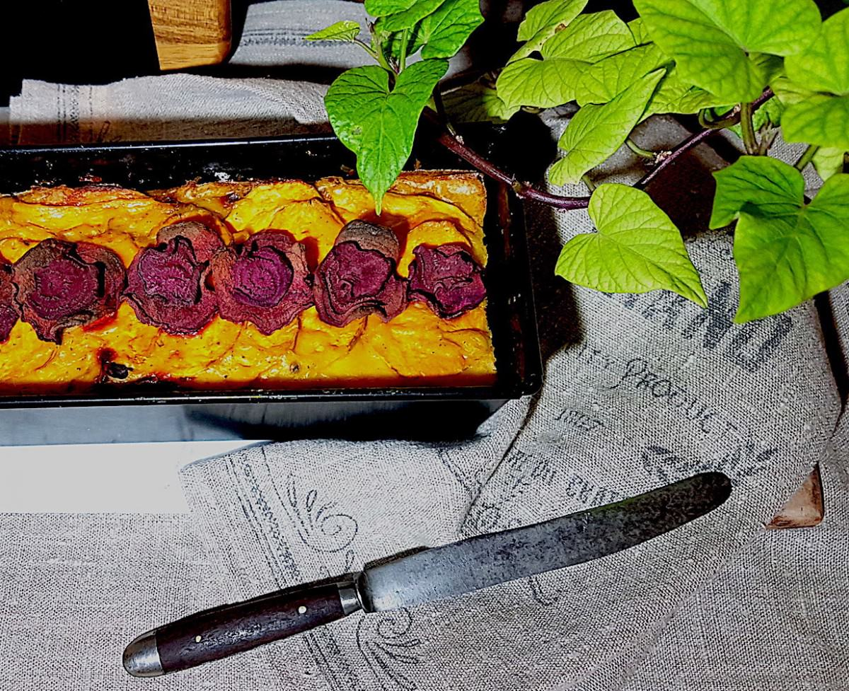 Salgado de batata doce e beterraba - 1