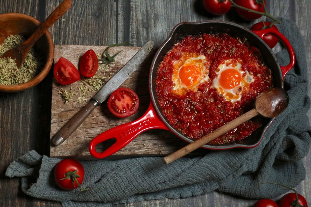 Tomatada com Ovos Escalfados - 1