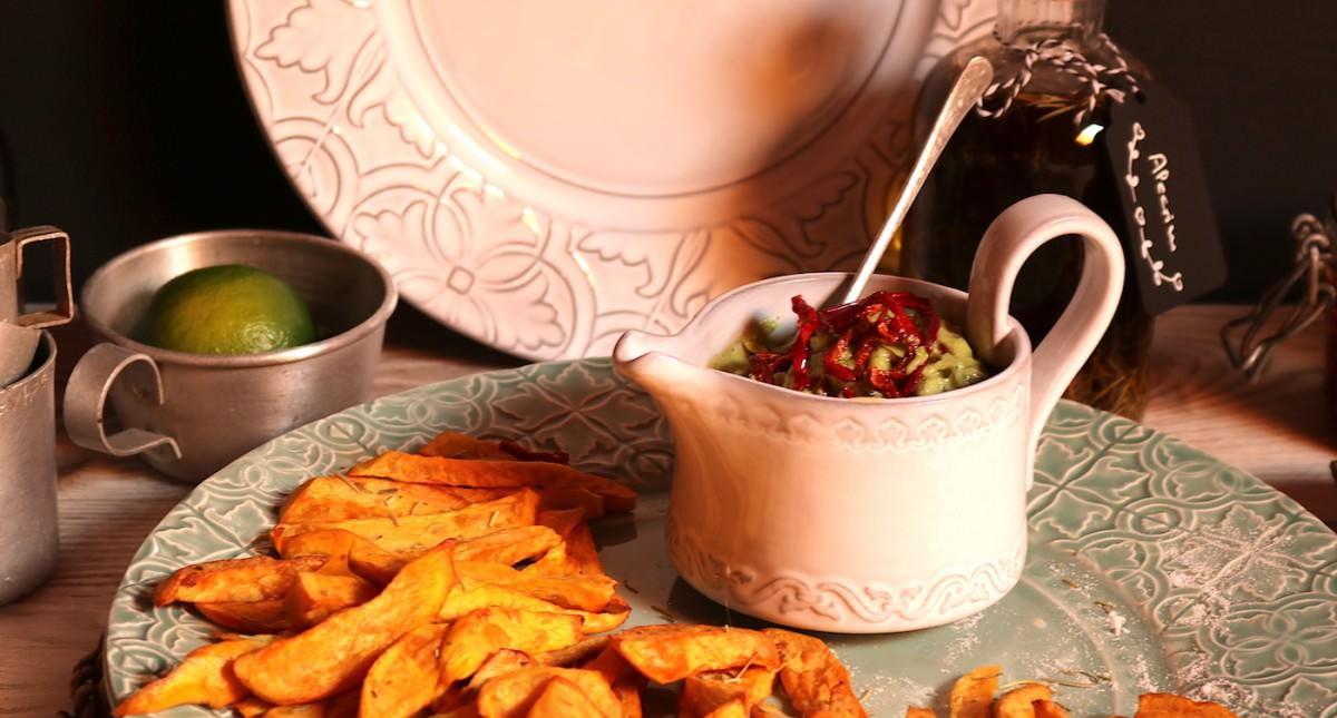 Batata doce frita & creme de abacate - 5