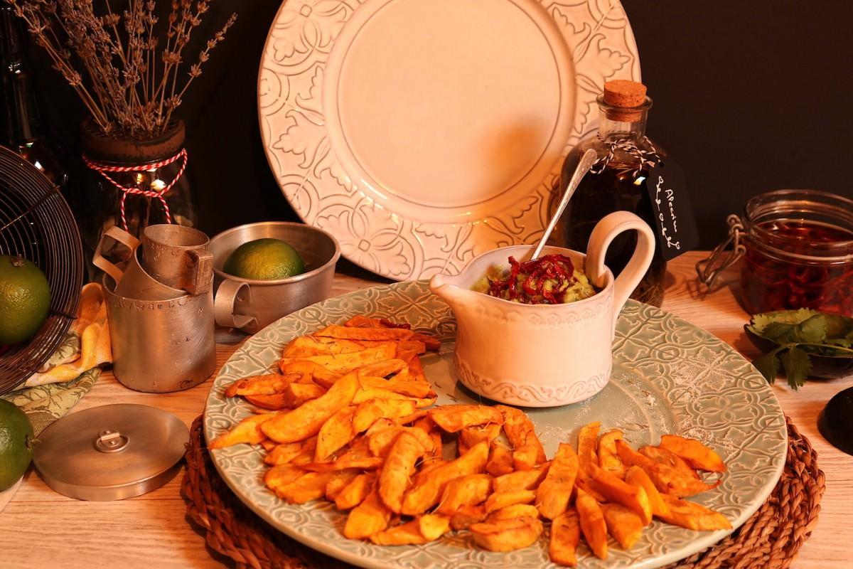 Batata doce frita & creme de abacate - 4