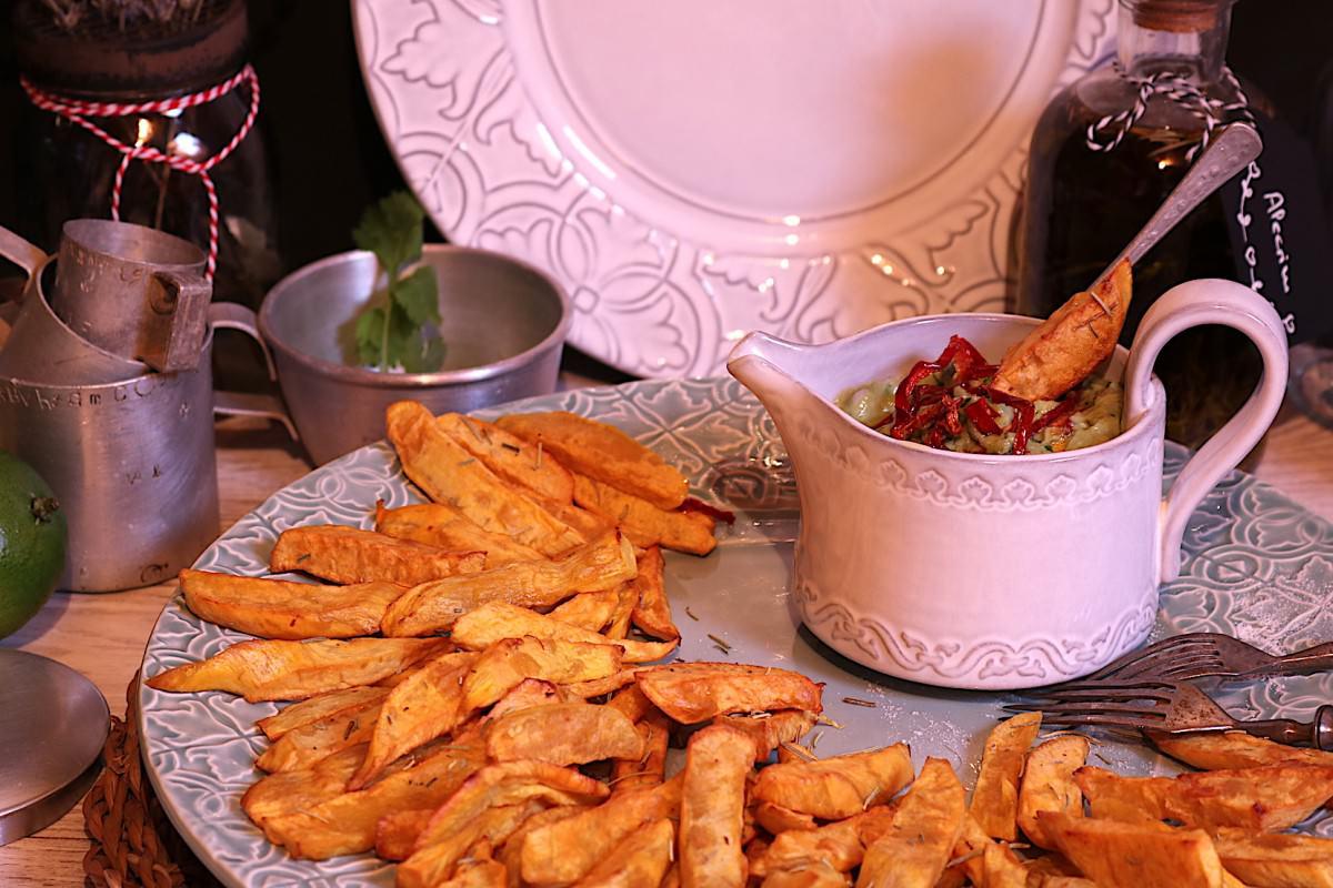 Batata doce frita & creme de abacate - 3
