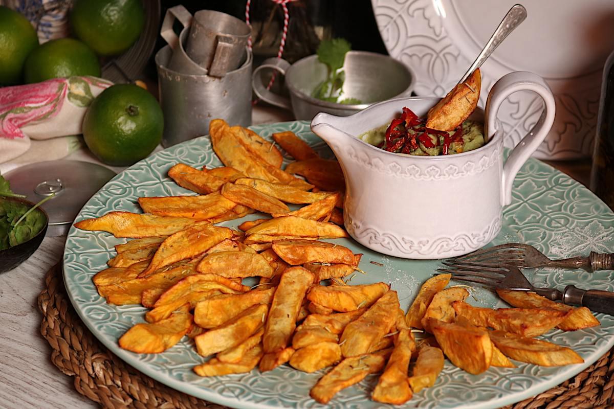 Batata doce frita & creme de abacate - 1