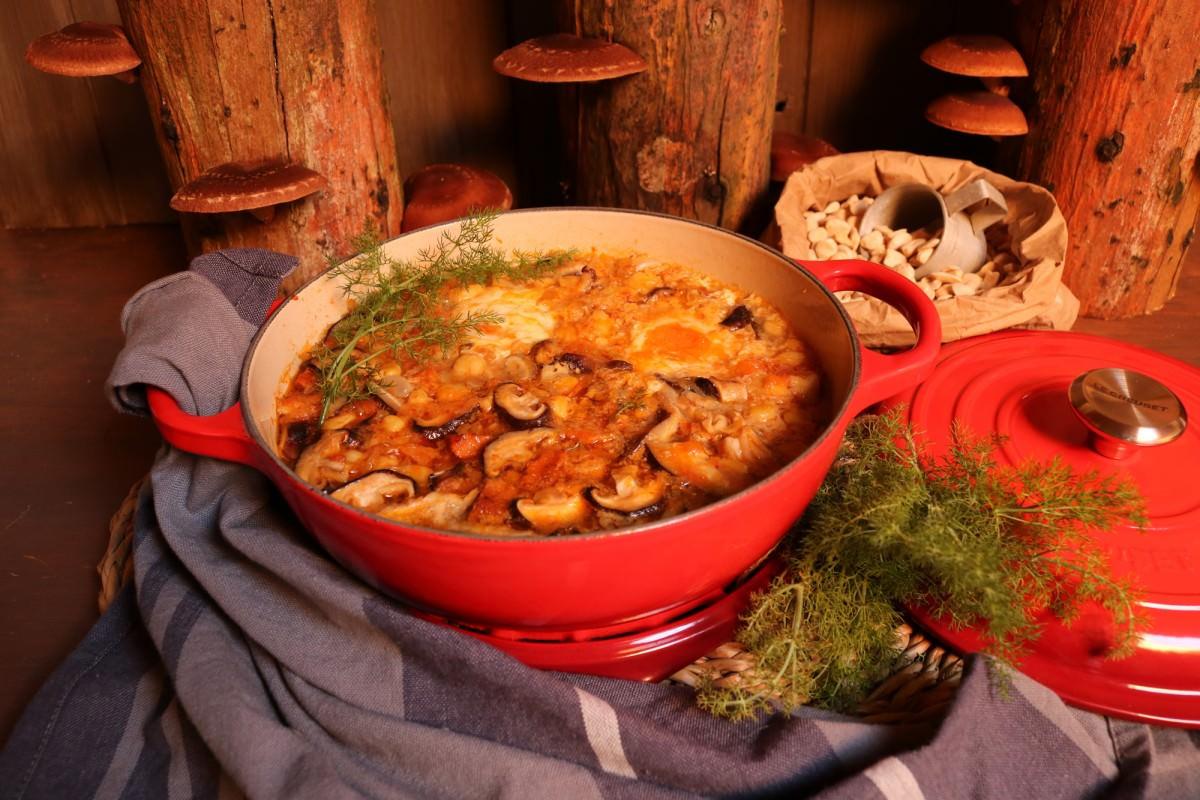 Chícharos com cogumelos shitake - 5