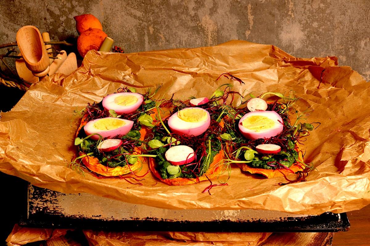 Batata doce com abacate, legumes e ovo - 2