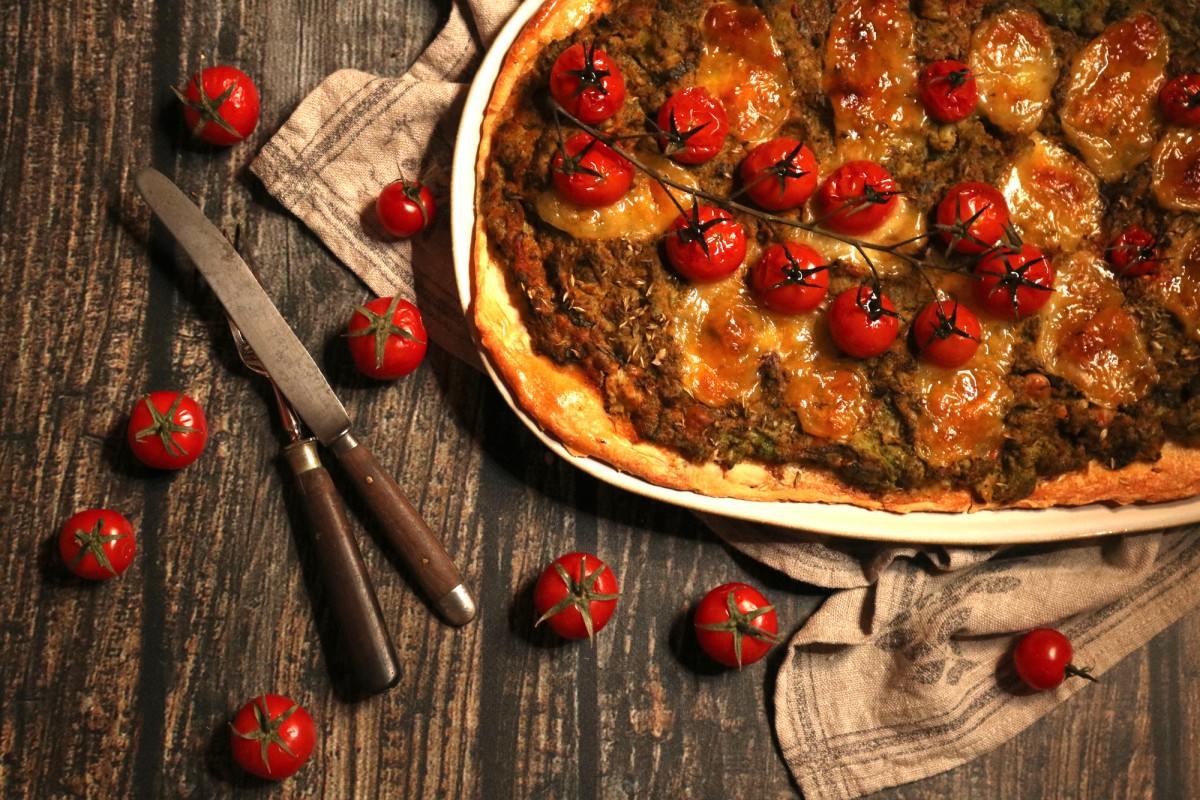 Pizza de Legumes e Anchovas - 0