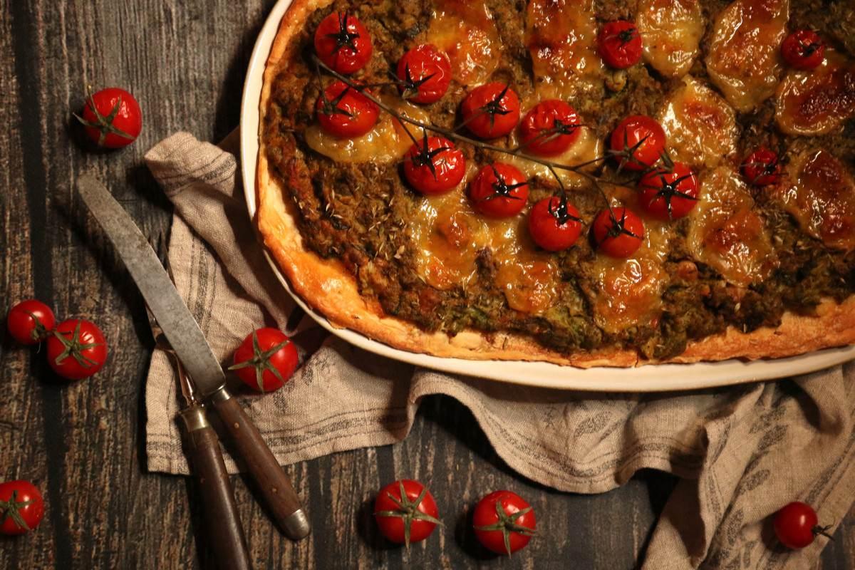 Pizza de Legumes e Anchovas - 1