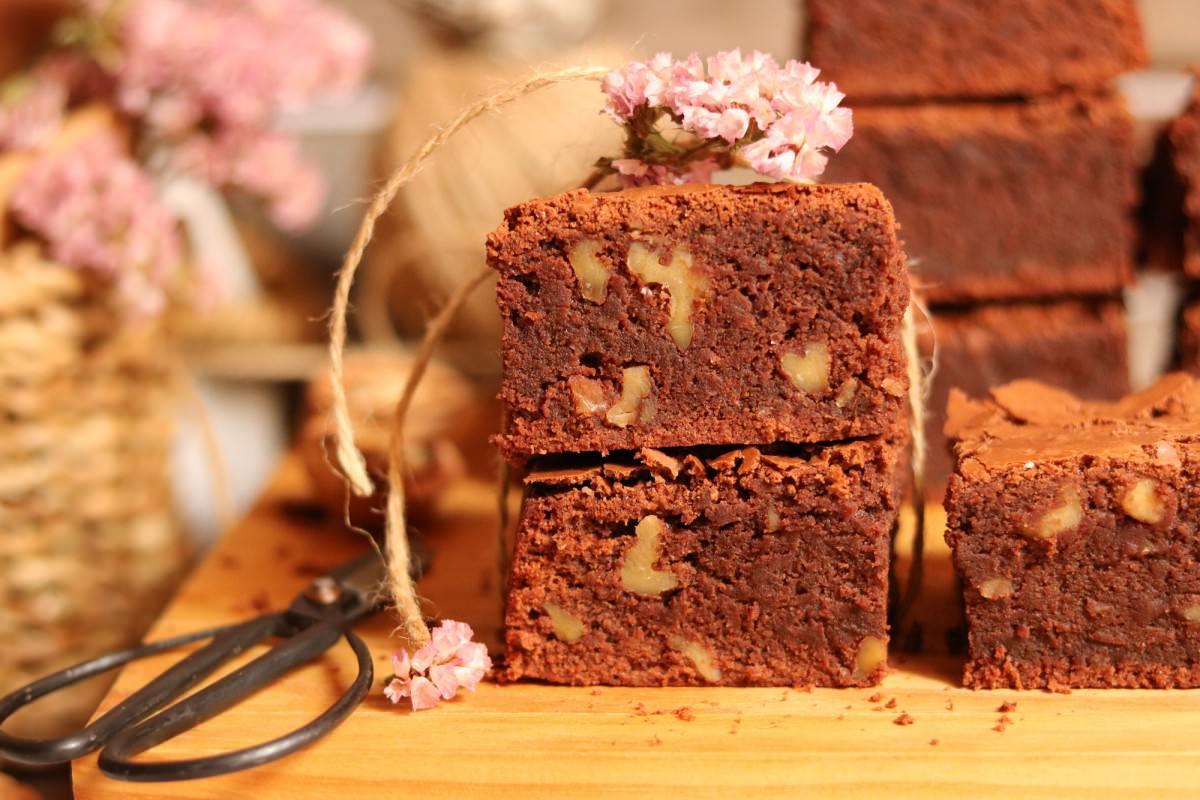 Brownies com noz - 1