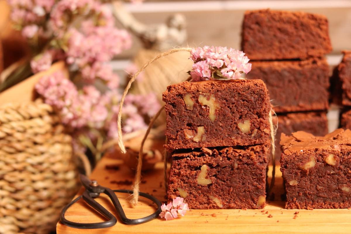 Brownies com noz